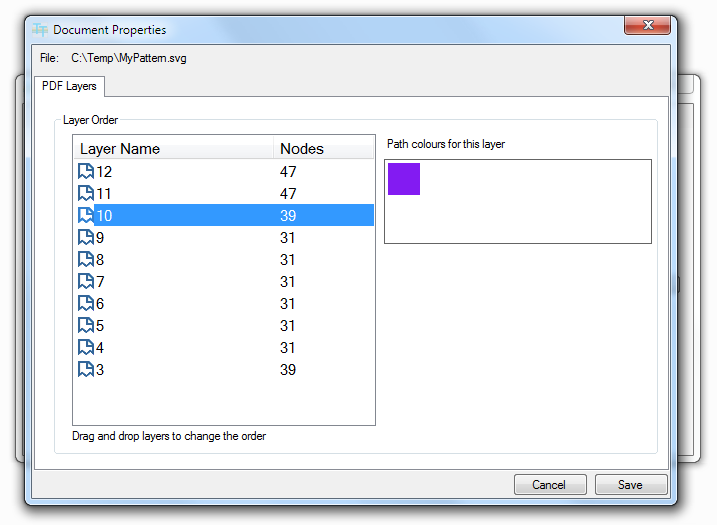 how to save multipage pdf from layers