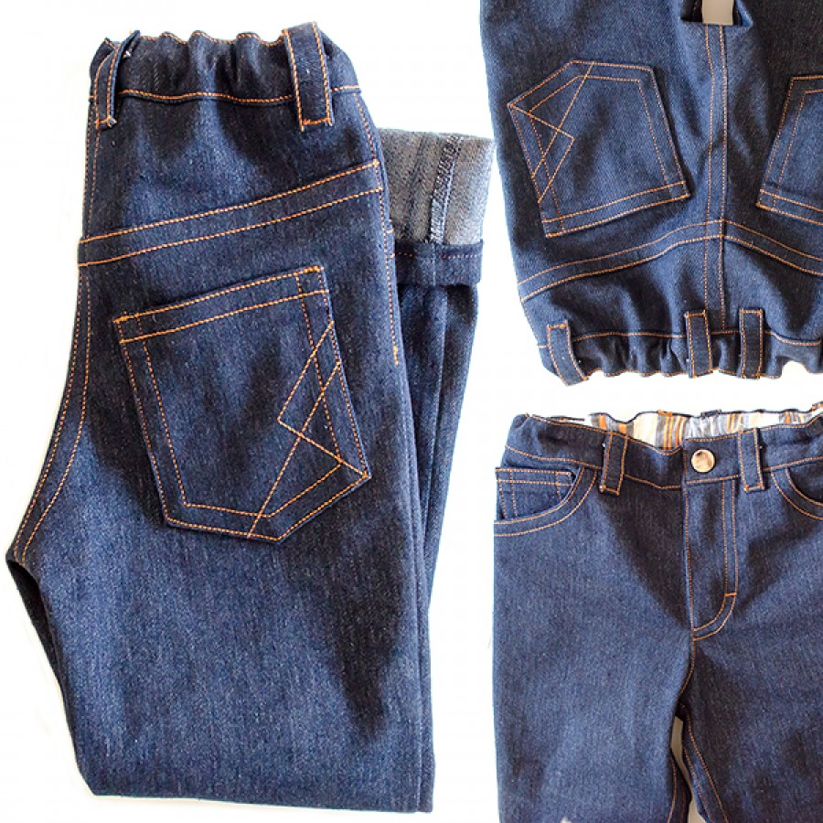 Titchy Threads - Small Fry Skinny Jeans - PDF Pattern